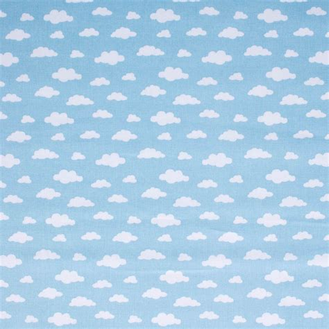 tela infantil nubes fondo celeste en galerias madrid
