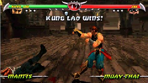 Mortal Kombat Unchained Kung Lao Psp Youtube
