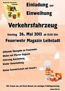 Einladung Zur Einweihung : einladung zur fahrzeug einweihung 26 mai 2013 regionale ~ Lizthompson.info Haus und Dekorationen