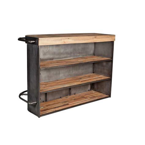 bar cuisine meuble table de cuisine haute avec rangement maison design