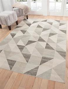Modern Silver Gray And White Modern Geometric Triangle