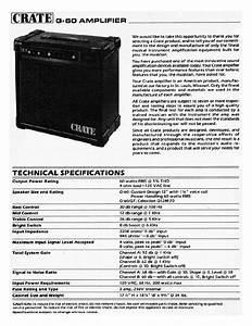 Crate G60 Sm Service Manual Download  Schematics  Eeprom
