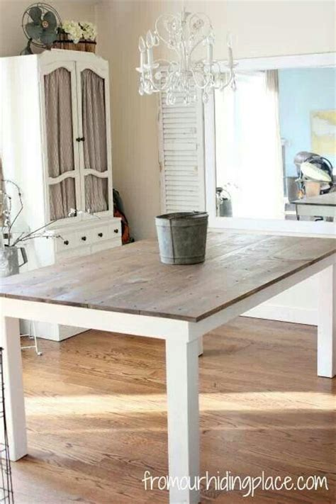 kitchen table wood top  white legs kitchens