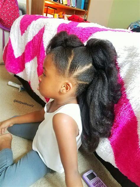 Kid Ponytail Hairstyles by Faux Hawk Ponytails Kid Hair Style Curlz