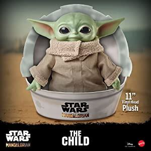 "Amazon.com: Star Wars Grogu Plush Toy, 11-in ""The Child ..."