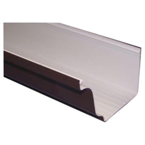 vinyl gutters lowes shop severe weather 4 875 in x 120 in k style gutter at 3278