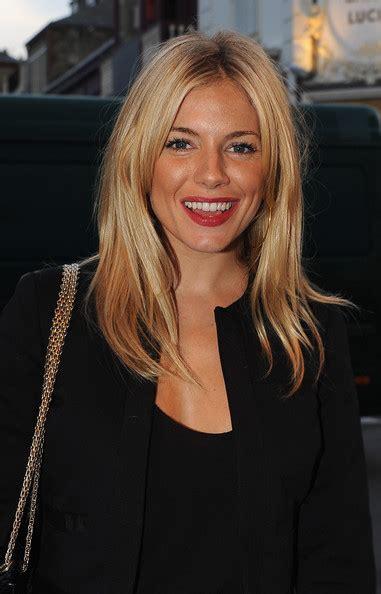 Sienna Miller Medium Straight Cut Sienna Miller Hair