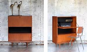 Bureau Secretaire Vintage : retro vintage secretaire uit de jaren 60 dehuiszwaluw ~ Teatrodelosmanantiales.com Idées de Décoration