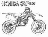 Coloring Bike Dirt Pages Honda Yescoloring Via sketch template