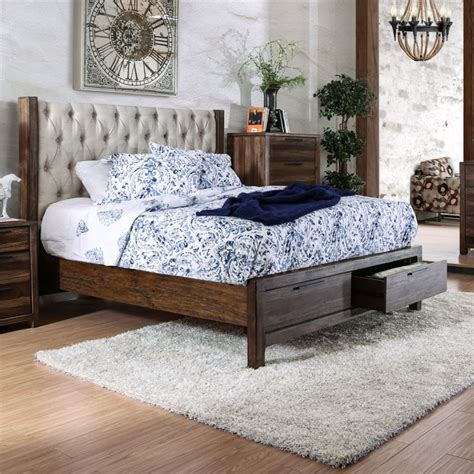 california king tufted bed usa