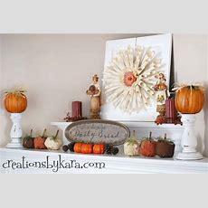 30 Beautiful Fall Mantel Displays