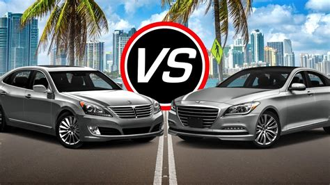 Hyundai Genesis Vs Equus by 2016 Hyundai Equus Vs Genesis V8 Spec Comparison