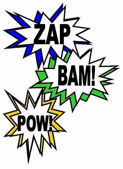 Superhero Words Word Action Clip Hero Super