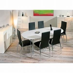 Table De Cuisine Ronde : table de cuisine table ronde extensible maisonjoffrois ~ Teatrodelosmanantiales.com Idées de Décoration