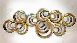 Sculpture Murale Design : d cor d coration murale design metal ~ Teatrodelosmanantiales.com Idées de Décoration