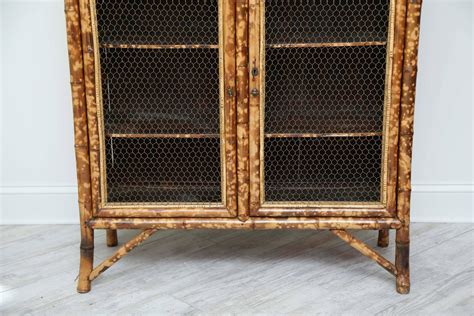 wicker panels for cabinets antique bamboo cabinet with chicken wire doors for sale at