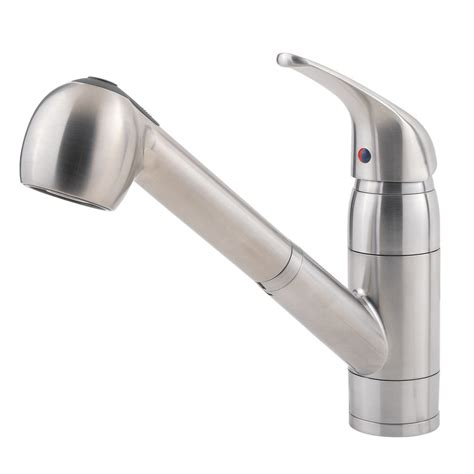 kitchen sinks faucets shop pfister pfirst series stainless steel 1 handle pull