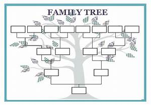 12 premium family tree template for free free premium With plain family tree template