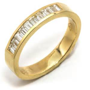 christian bauer rings nagi bridal baguette diamond channel set 18k yellow