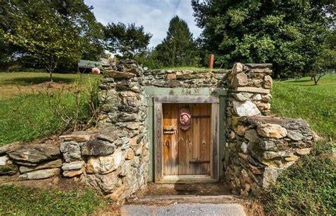 homes built into hillside root cellar preservation