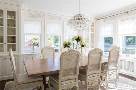 French Dining Room With Built In China Cabinet