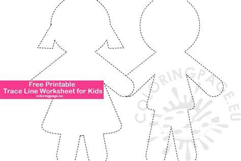 printable trace  worksheet  kids coloring page