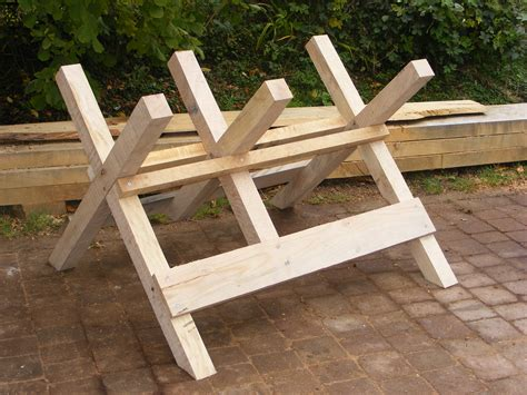 Firewood Cutting Stand by Log Sawhorse Plans Pdf Woodworking