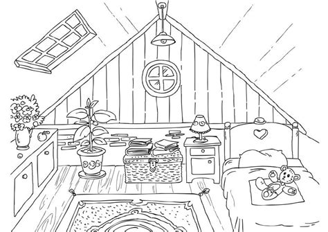 basement clipart black and white coloring page attic img 26226