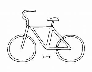 Desenho de Bicicleta básico para Colorir Colorir