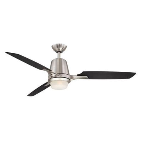 Home Depot Ceiling Fans Brushed Nickel by Hton Bay Stylique Ii 52 In Brushed Nickel Ceiling Fan