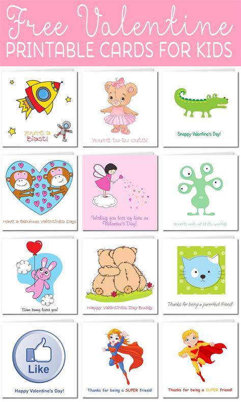 printable valentine cards  kids