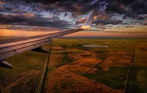 Landscape, Sunset, Clouds, Aircraft, Wallpapers, Hd, Desktop, And, Mobile, Backgrounds