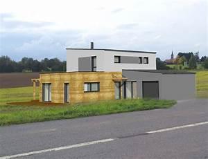 Maison Ossature Bois Toit Plat : maison cubique toit plat et ossature bois nos projets maison cubique ~ Melissatoandfro.com Idées de Décoration