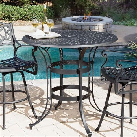 biscayne high top bistro table modern outdoor products