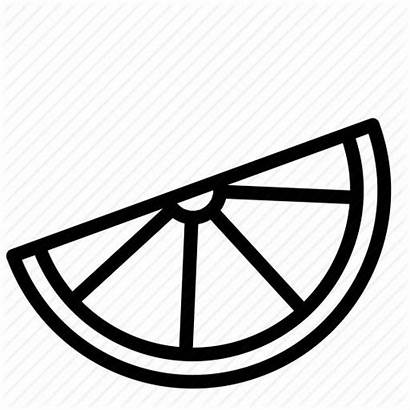 Lime Lemon Orange Slice Outline Clipart Drawing