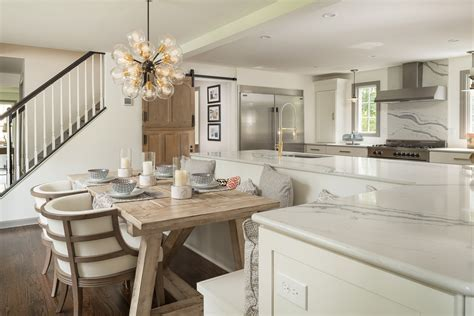Wide Open Kitchen with Large Island and Custom Built In