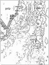 Waterfall Coloring Nature Wasserfall Ausmalbilder Printable Ausdrucken Malvorlagen Kostenlos sketch template