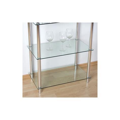 etagere en verre pour cuisine etagère bibliothèque en verre et aluminium séjour salon salle de bain