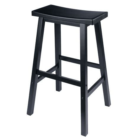 bar saddle stool seat walmart wood winsome satori stools kitchen finish chair single counter ships legs hard tools
