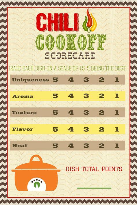 pocket full  lds prints chili cook  scorecard