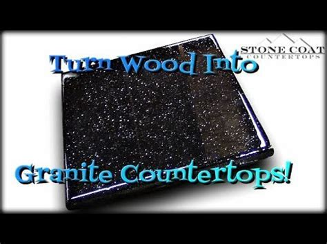 Turn Wood Into Granite Countertops   YouTube