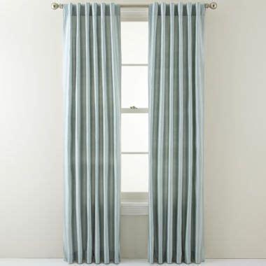 jcpenney silk drapes royal velvet 174 silk pinstripe back tab curtain panel found