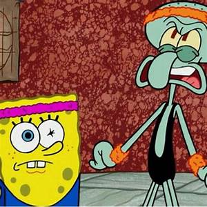 Working out (aggression) with a buddy Squidward Style ...