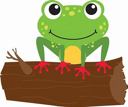 Clipart Frog Leap Summer Log Into Program