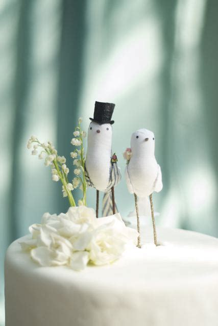 love birds   sweet wedding cake toppers chic