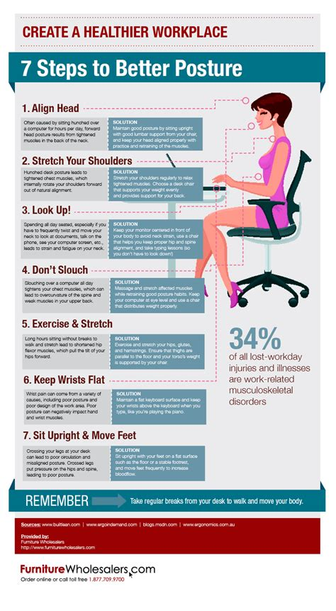 7 Tips for a Better Sitting Posture Infographics