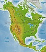 North America Physical Map Freeworldmaps Net In South ...