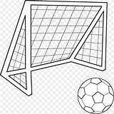 Football Goal Soccer Colouring Coloring Drawing Transparent Ball Goals Clipart Basketball Kindpng Favpng sketch template