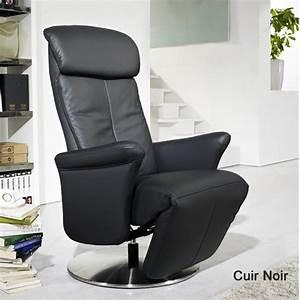 fauteuil relax cuir manuel de luxe design contemporain With fauteuil design italien cuir
