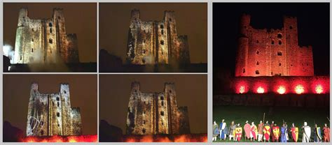 castle siege projection mapping emf technology